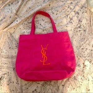 YSL Parfums Logo Pink Tote Bag
